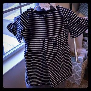 Carter's girls Navy/ White striped dress